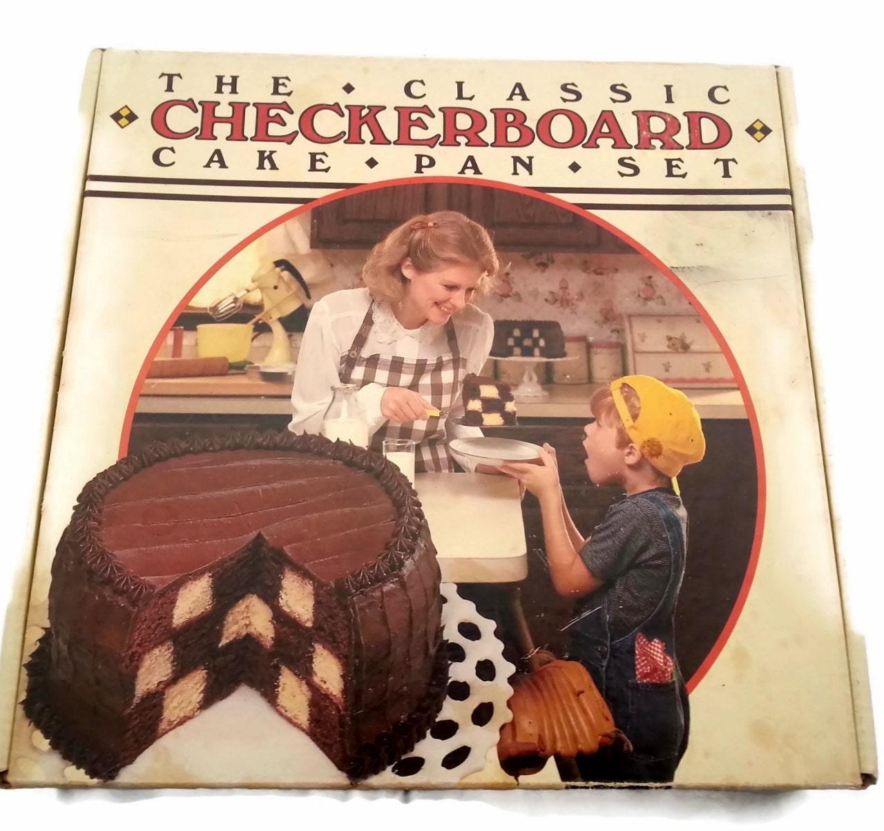 checkerboard cake pan set instructions