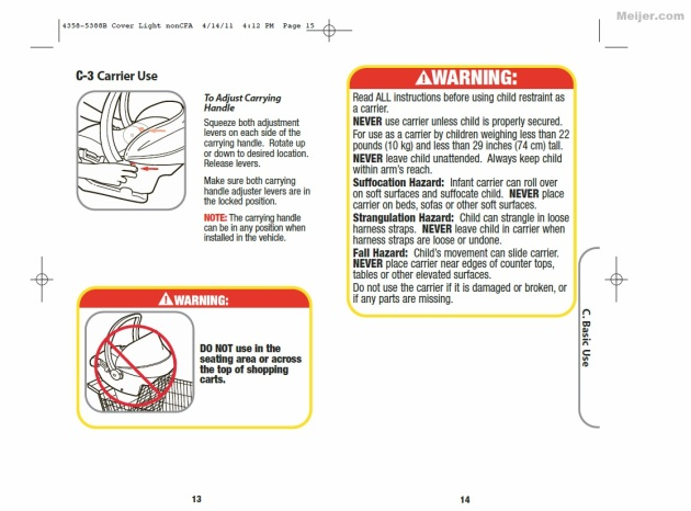 cosco baby car seat instructions