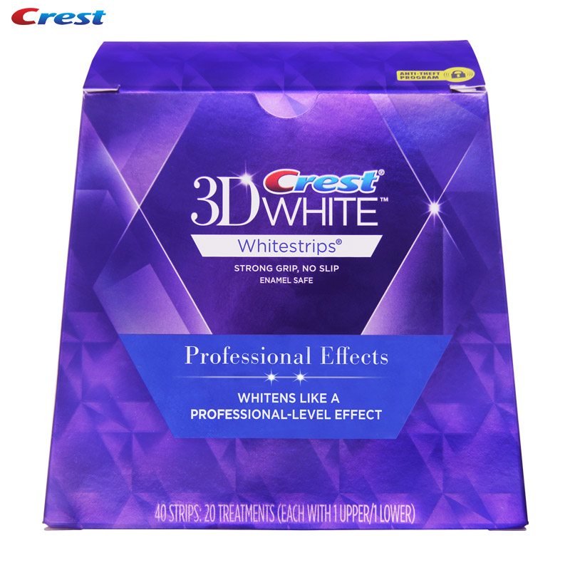 crest whitening strips professional effects instructions