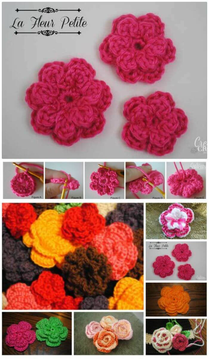 crochet flowers step by step instructions
