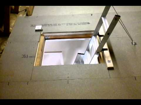 fakro loft ladder fitting instructions