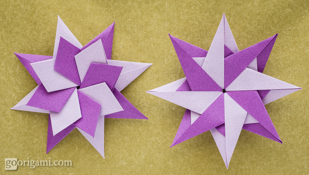 folded paper stars instructions