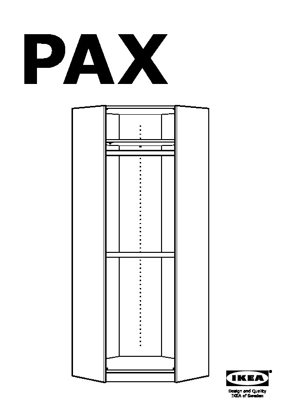 pax corner wardrobe instructions
