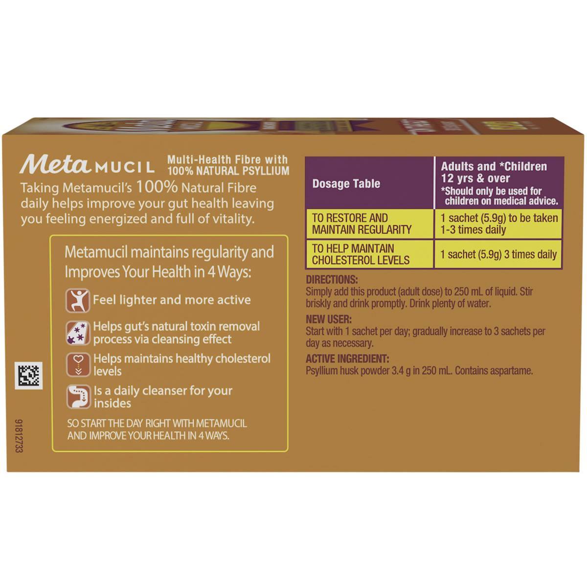 metamucil instructions for use