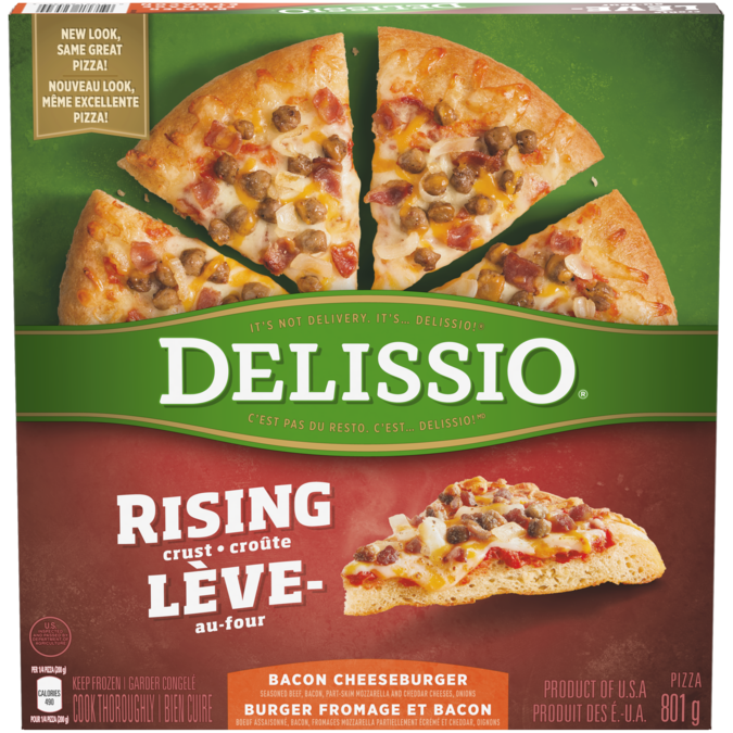 delissio rising crust pizza cooking instructions