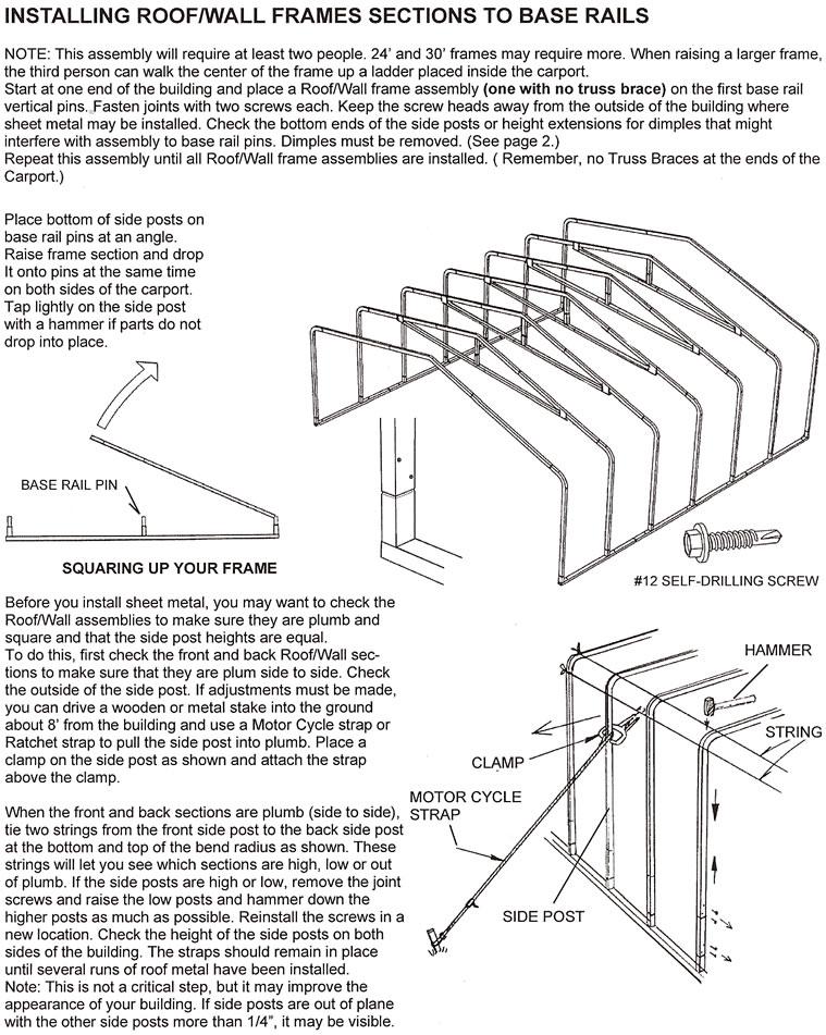 auto shelter 1020 assembly instructions