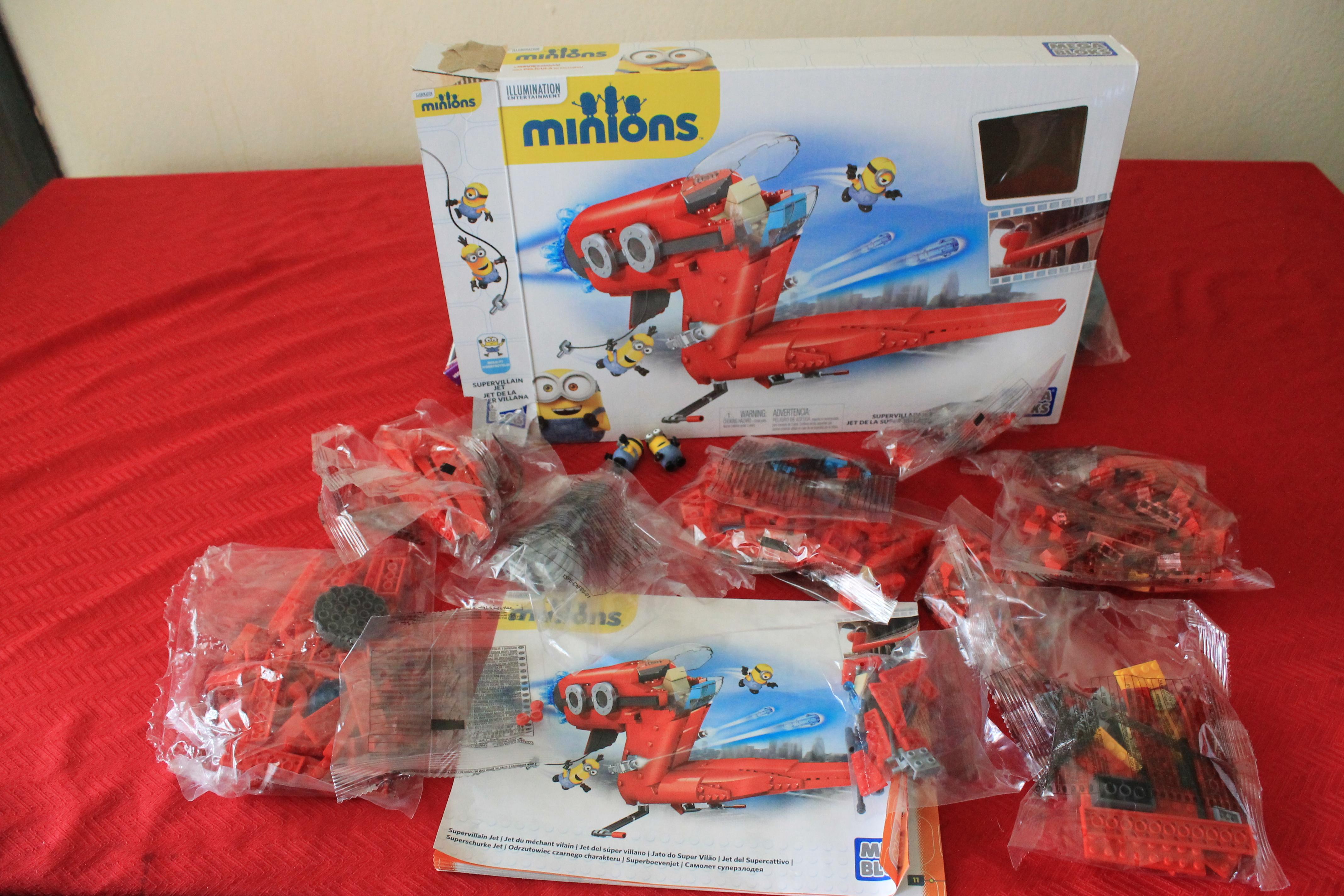 mega bloks minions supervillain jet instructions