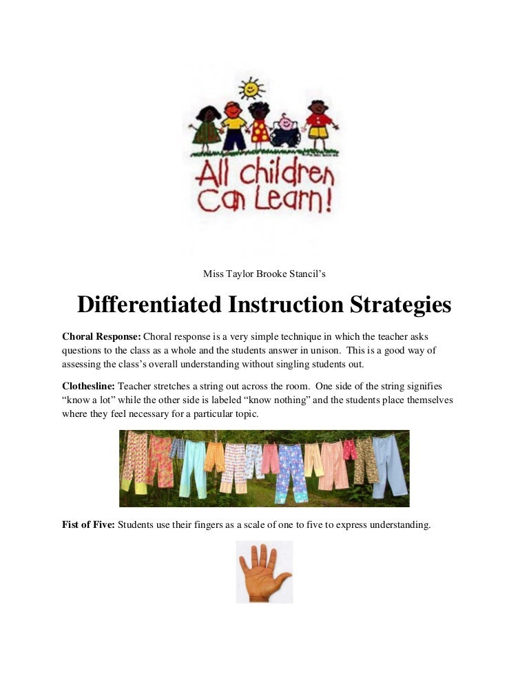 differentiated instruction strategies for math