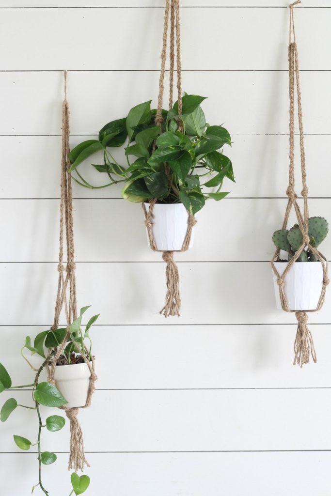 diy macrame plant hanger instructions
