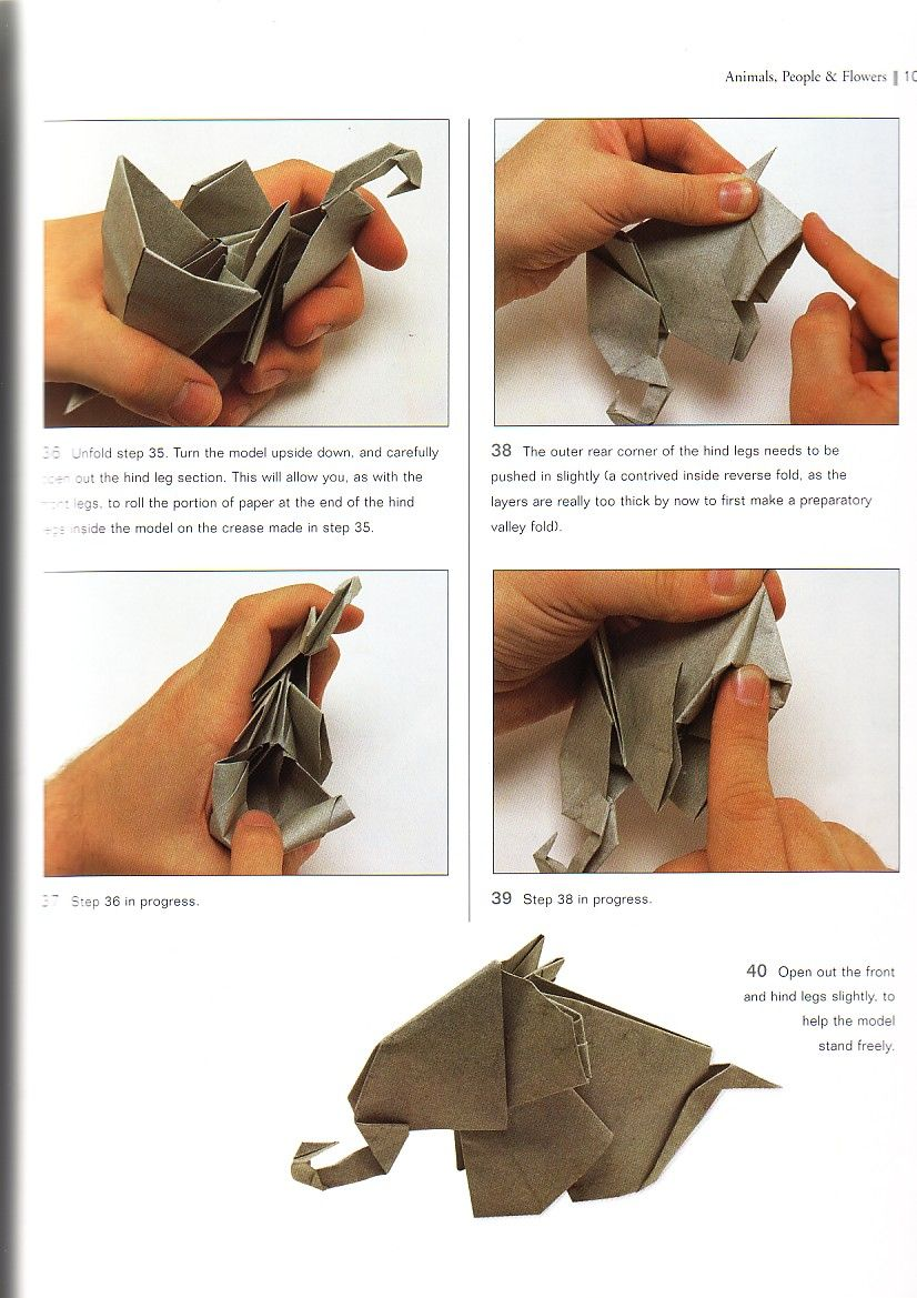 origami elephant instructions pdf