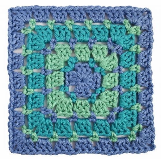 easy instructions to crochet a granny square