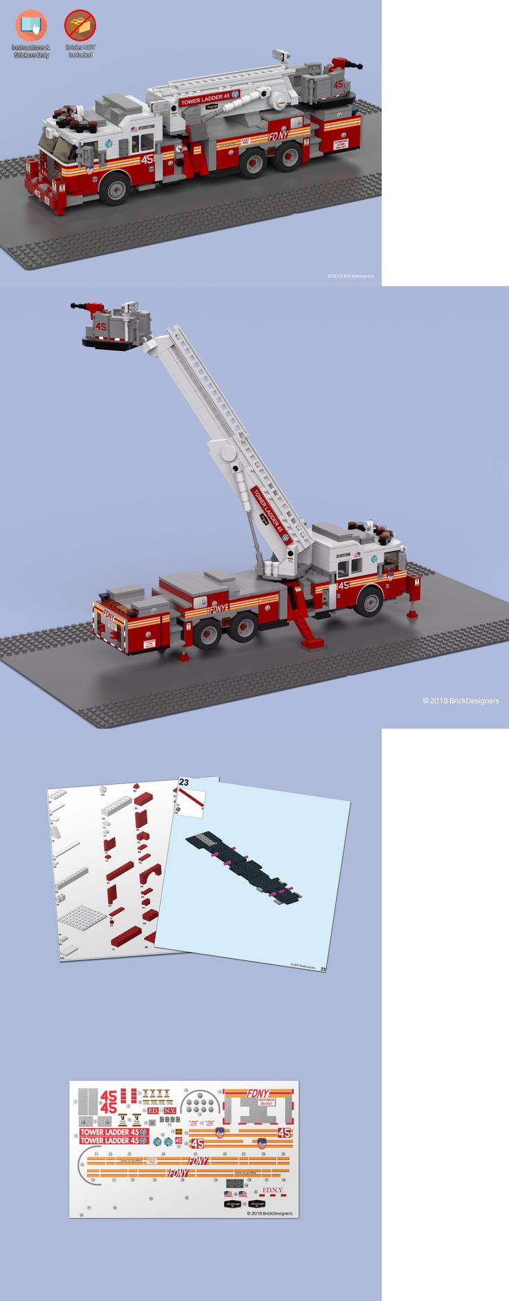how to build a lego fire truck instructions