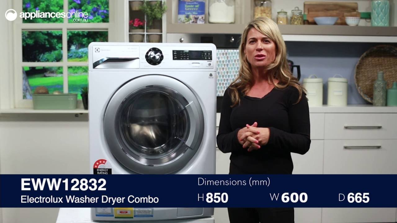 electrolux washer dryer combo instructions