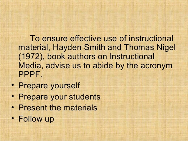 evaluating instructional materials checklist