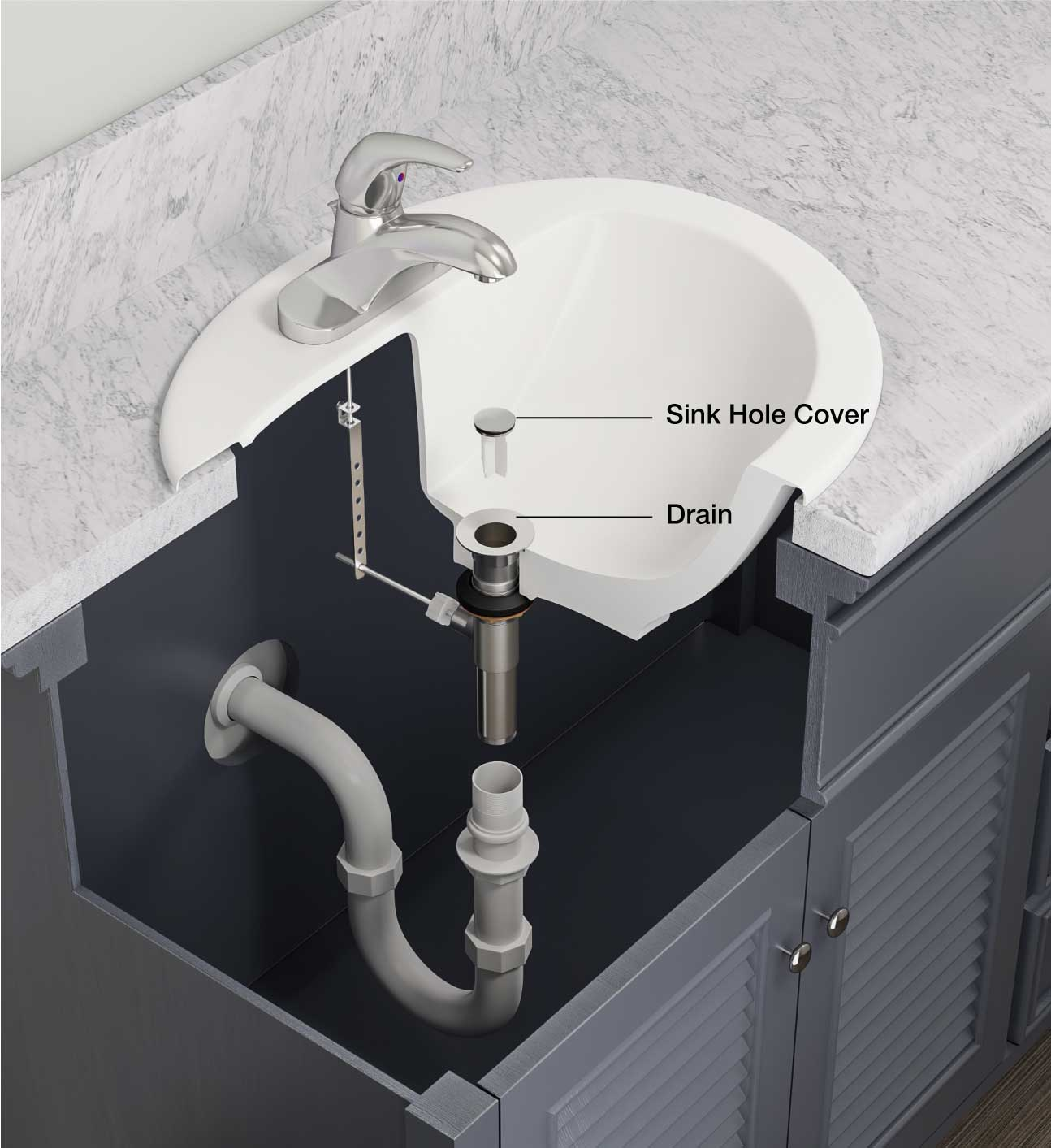 bathroom sink drain repair instructions