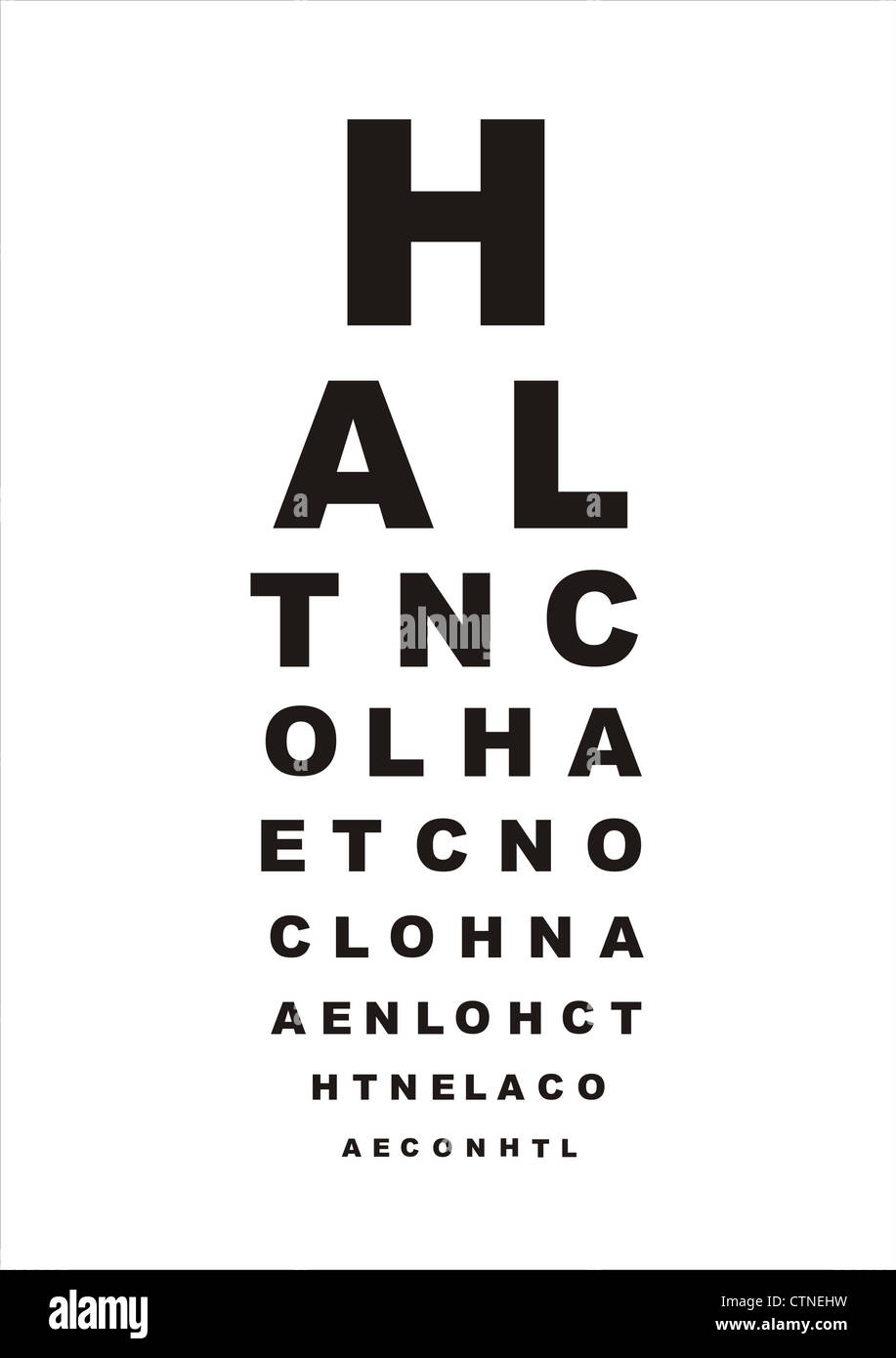 snellen eye test instructions
