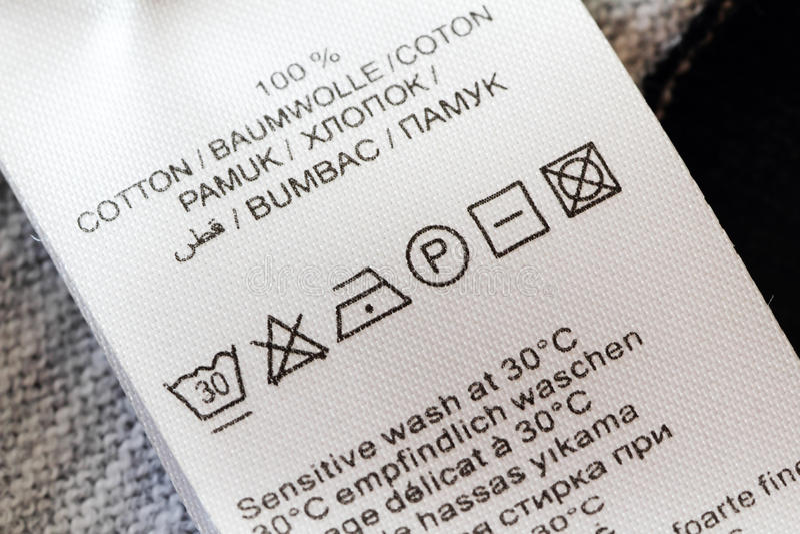 fabric care instruction symbols