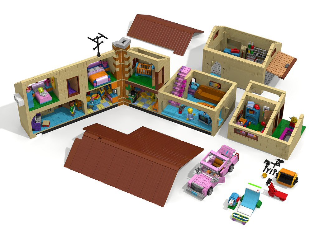 lego simpsons house instructions