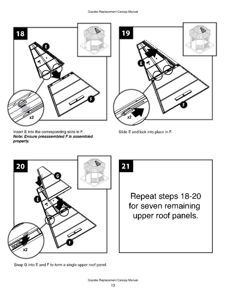 gazebo with mosquito netting assembly instructions
