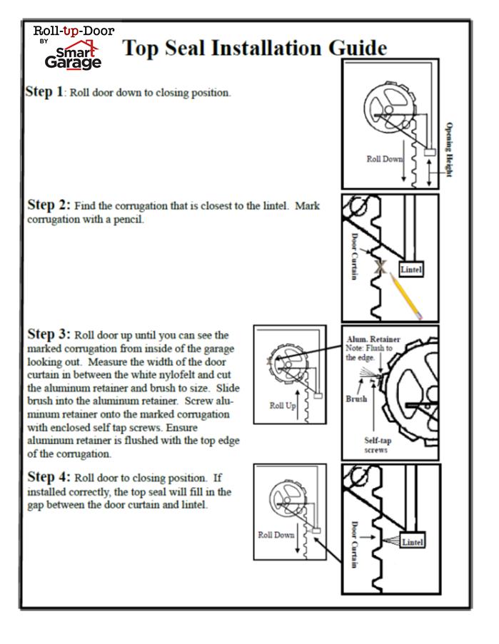 garaga garage door installation instructions
