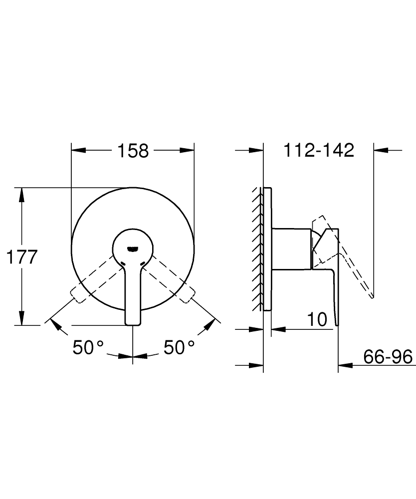 grohe shower trim installation instructions