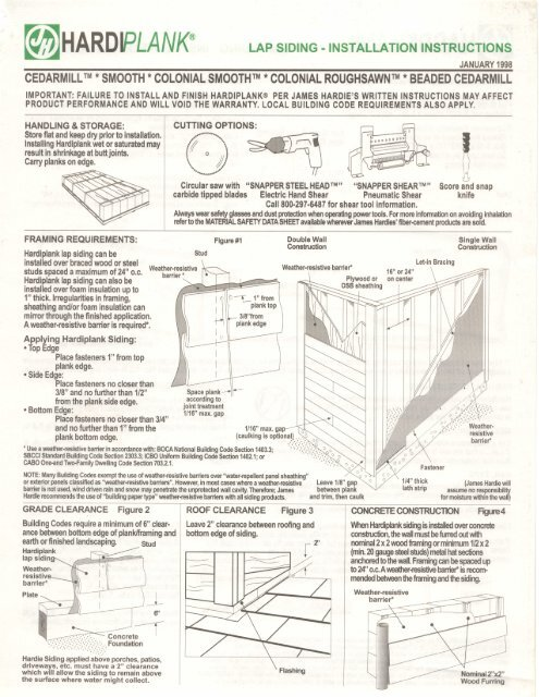 hardie board installation instructions