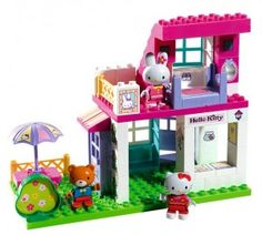 hello kitty lego house instructions