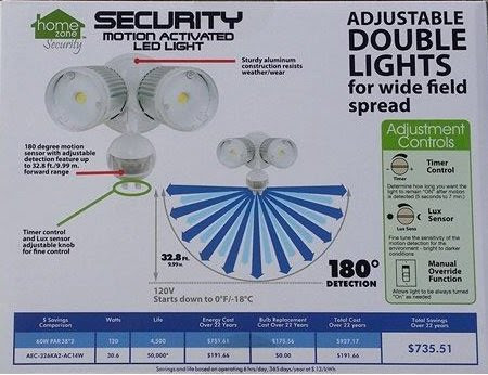 home zone security light instructions