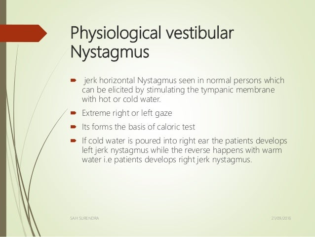 horizontal gaze nystagmus test instructions