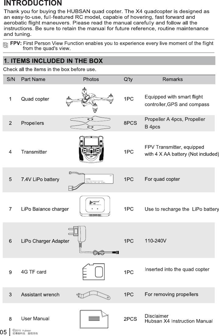 hubsan x4 video recording instructions