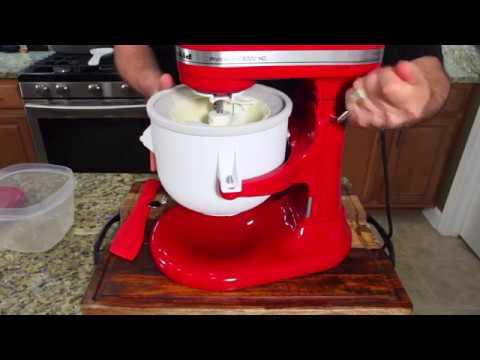 ice cream attachment kitchenaid instructions