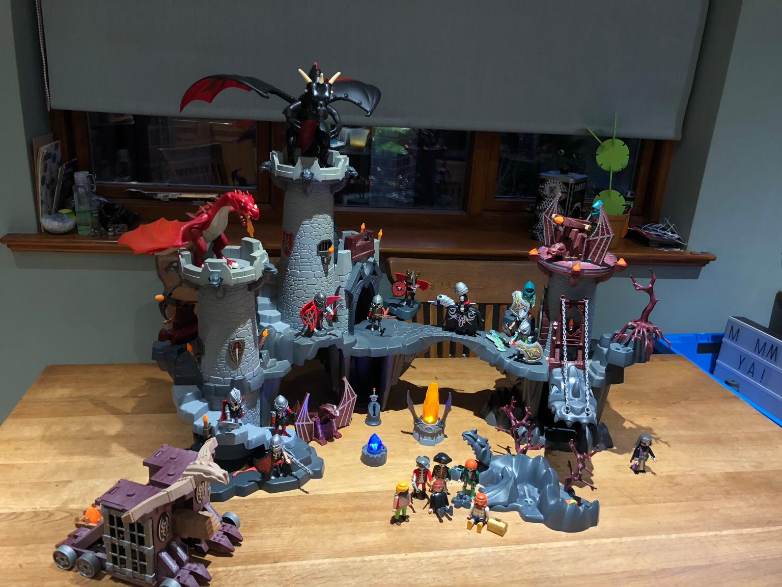 imaginext dragon castle instructions