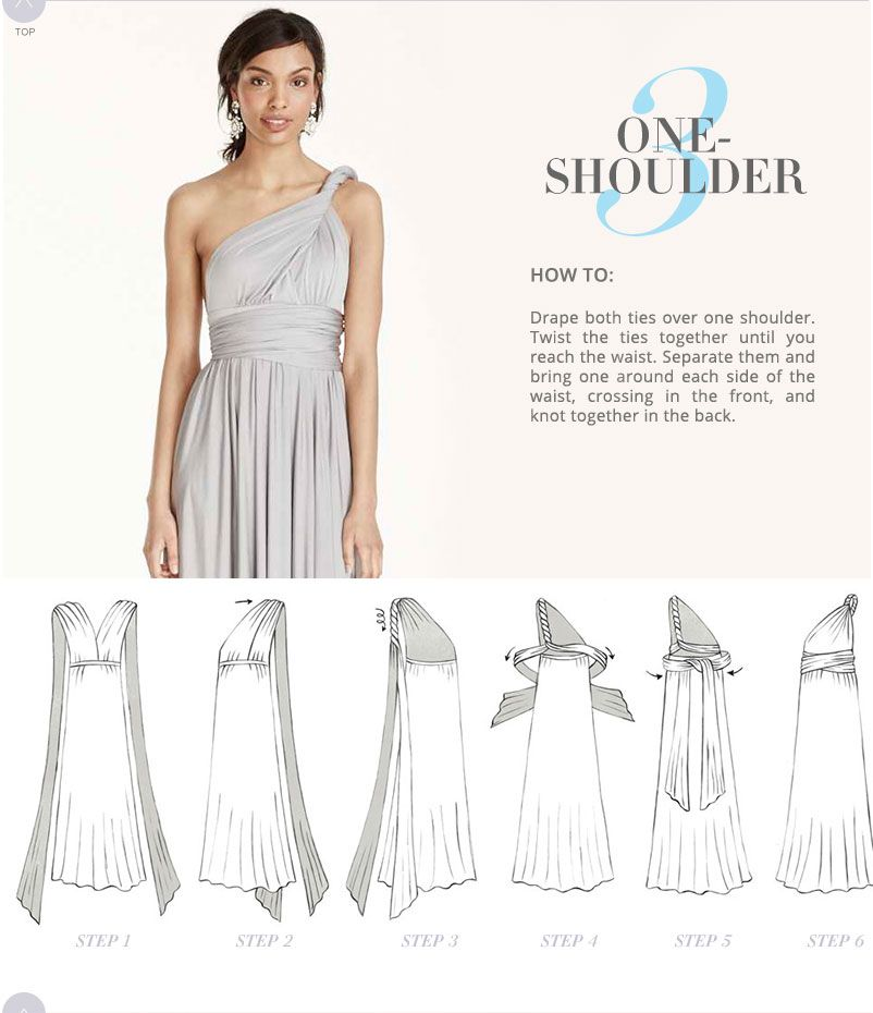 infinity dress instructions booklet