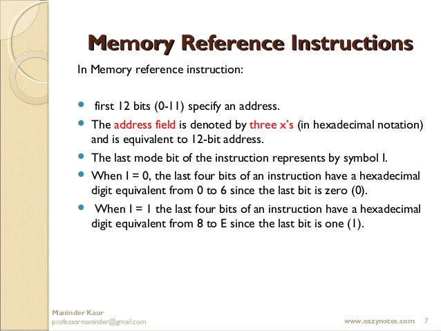 instruction at referenced memory