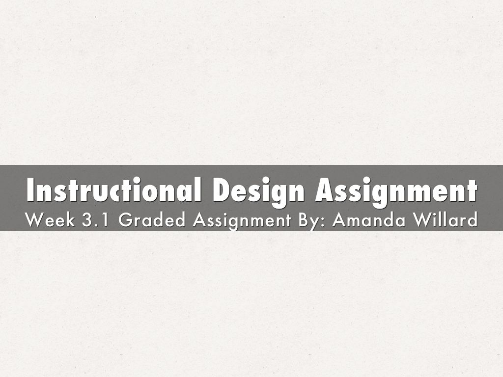 instructional design training ppt