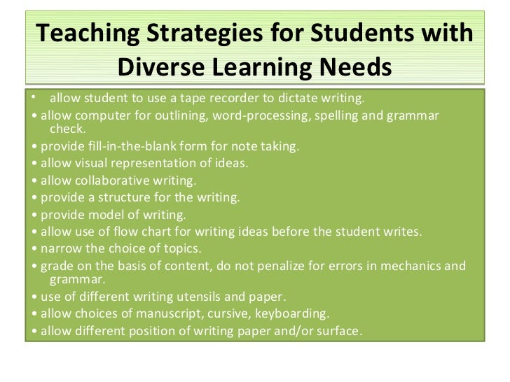instructional strategies for teaching writing