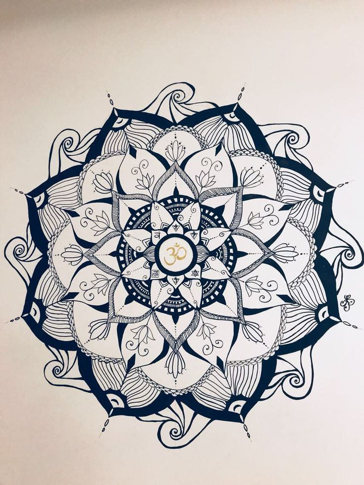 instructions to draw a mandala