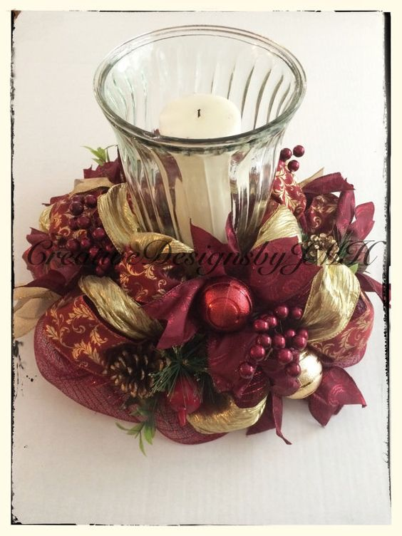instructions to make christmas table decorations