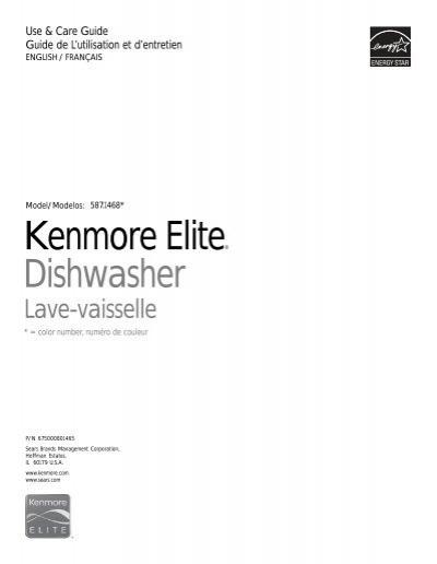 kenmore elite dishwasher instructions