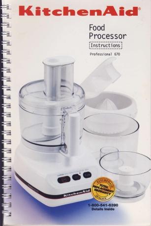 kitchenaid food processor attachment instructions