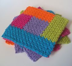 knit granny square pattern instructions
