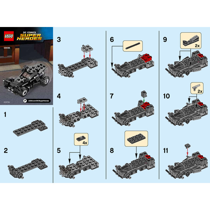 lego batmobile instructions 2016
