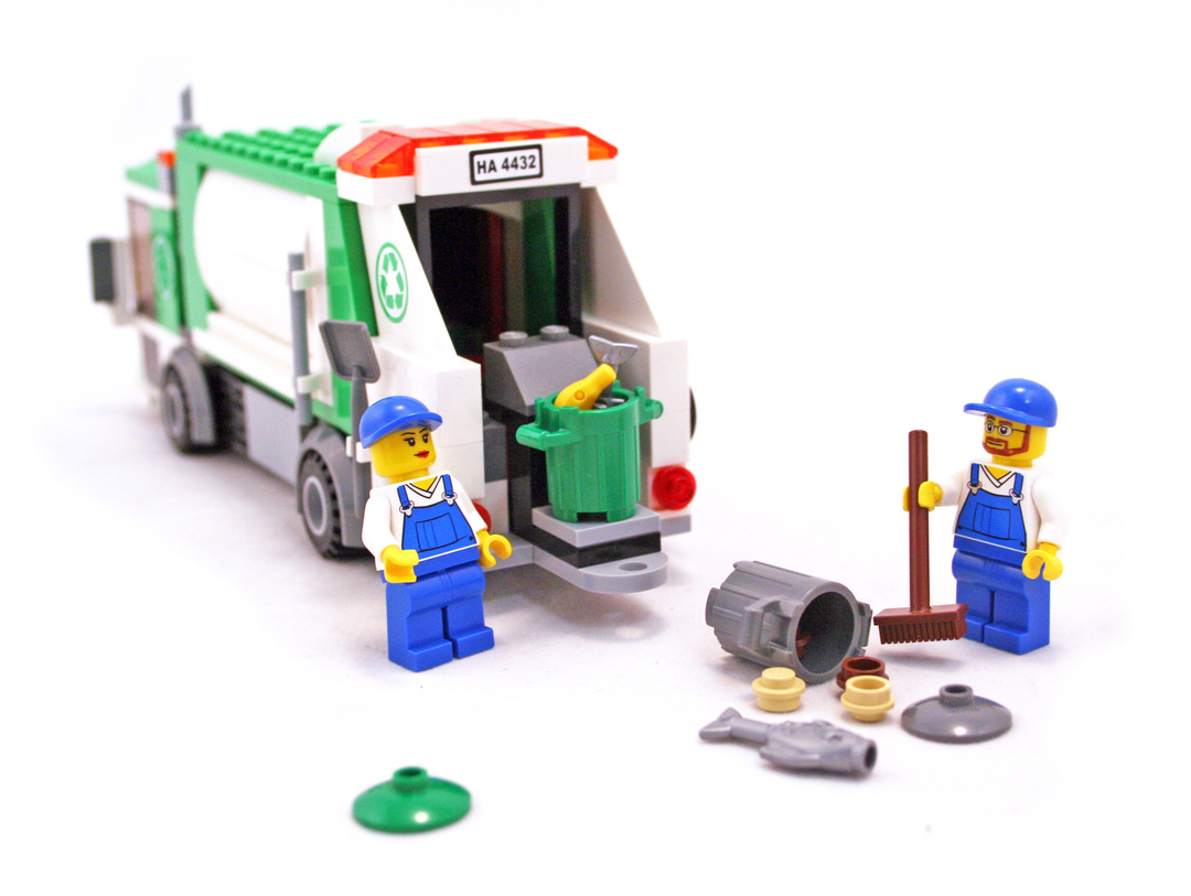 lego city garbage truck 4432 instructions