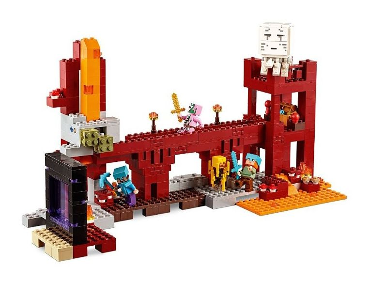 lego minecraft nether fortress instructions