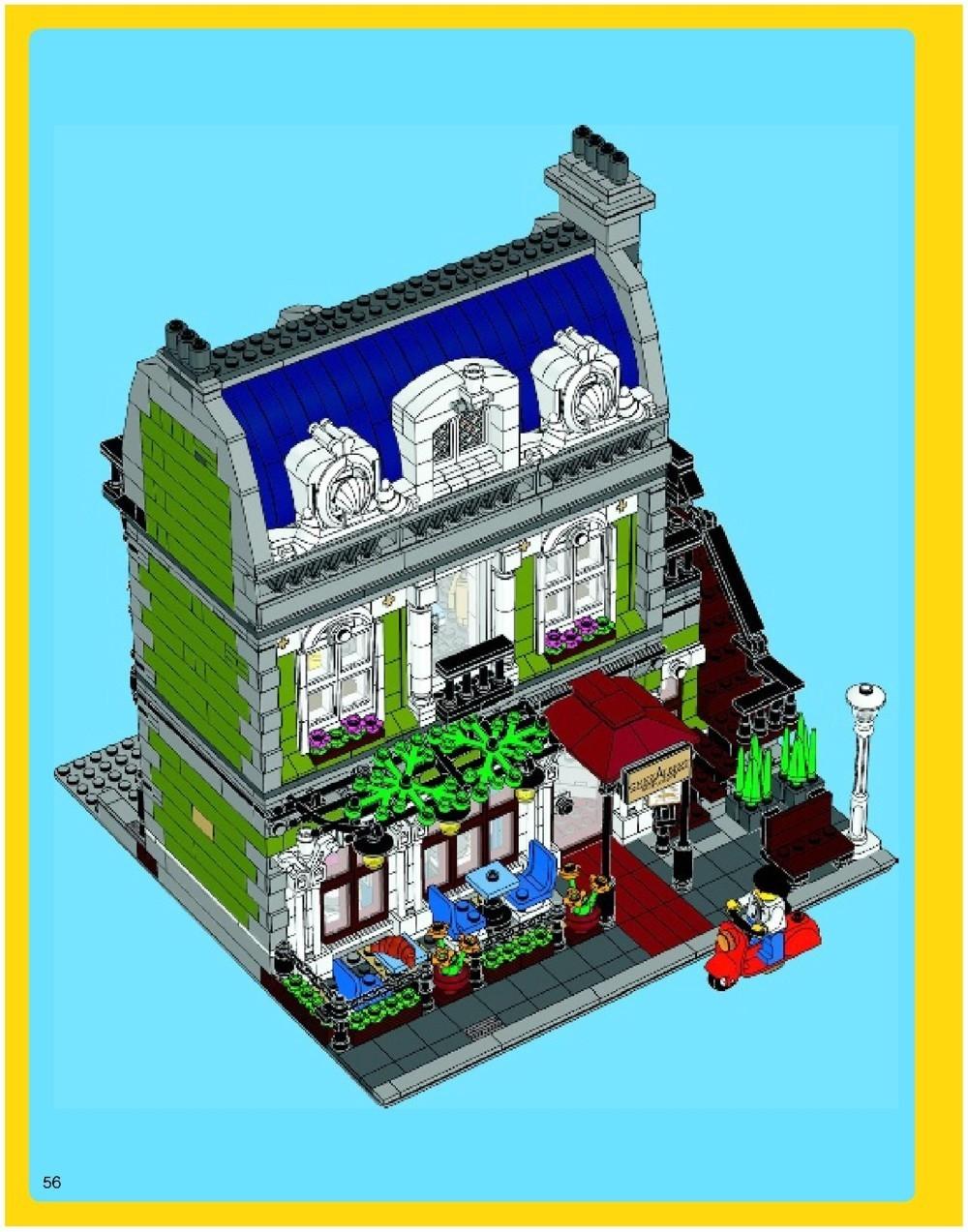 lego parisian restaurant instructions