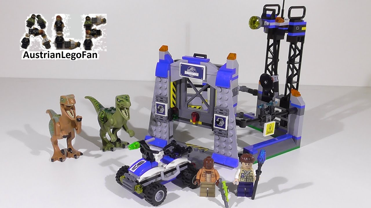 lego raptor escape instructions