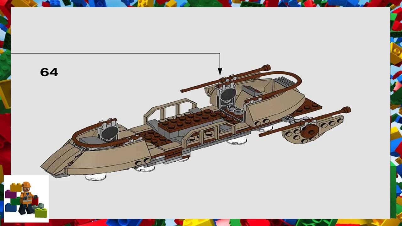 lego star wars desert skiff instructions