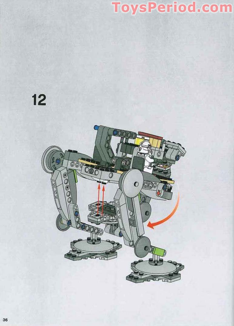 lego star wars walker instructions