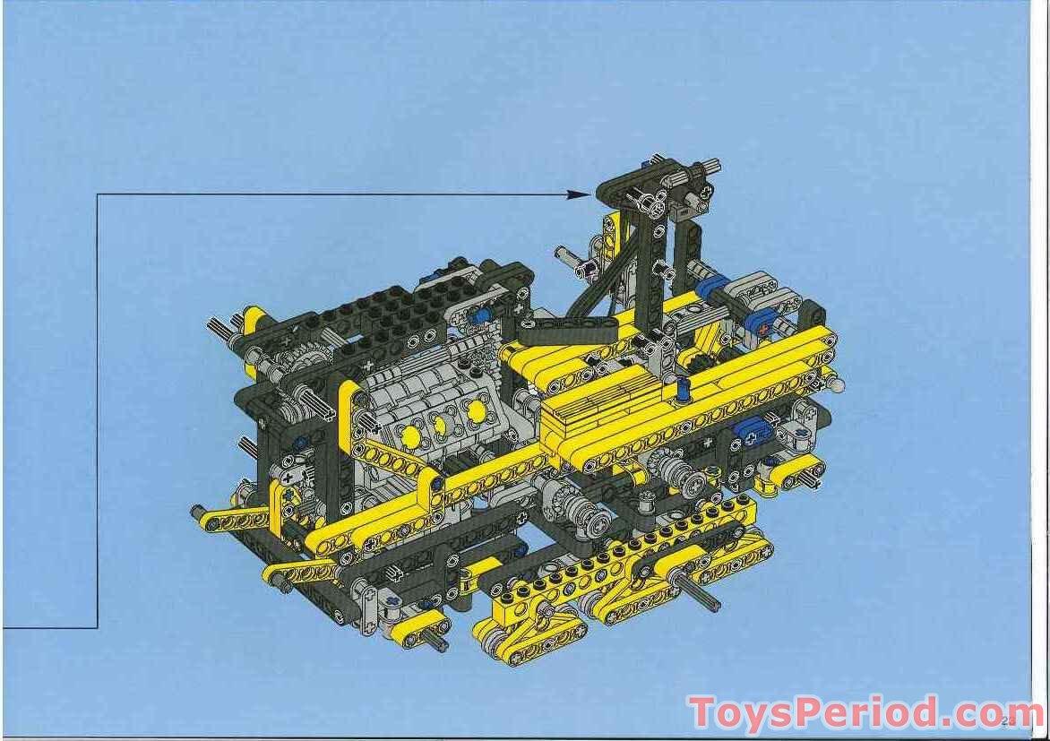 lego technic bulldozer instructions