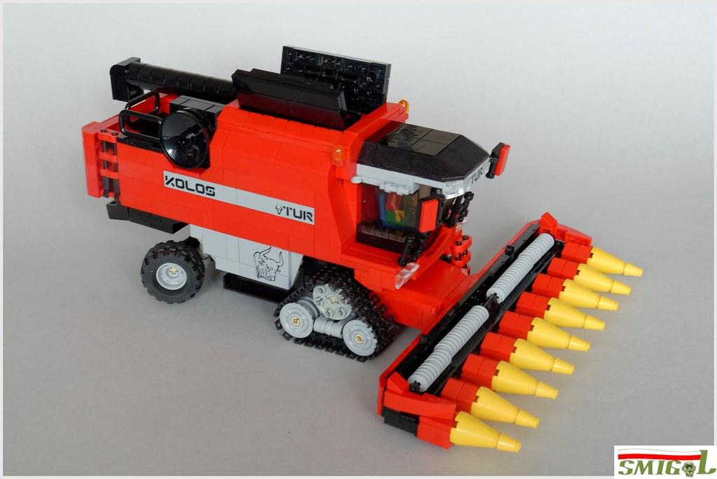 lego technic combine harvester instructions